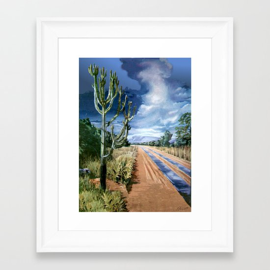 Country Road Framed Art Print