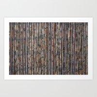 Willow fence Art Print