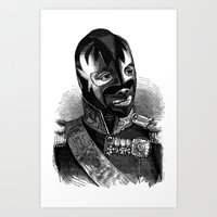 WRESTLING MASK 8 Art Print