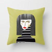 Fashion Illustration. Throw Pillow