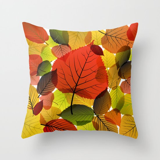 AUTUMN IS BACK Throw Pillow
