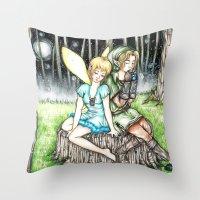 Link&Navi Throw Pillow