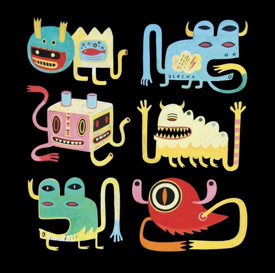 Petits monstres  Art Print