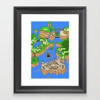 Mario World Framed Art Print