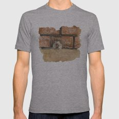 Afraid (Embrace) Mens Fitted Tee Athletic Grey SMALL