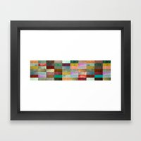 Blocks Framed Art Print