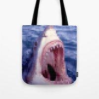 Shark - Jaws - Pixel Tote Bag