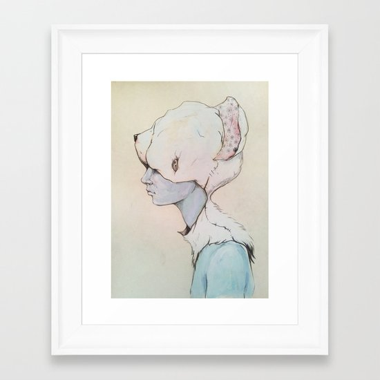Portrait E Framed Art Print