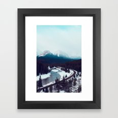 Canadian Rocky Mountains, Banff, Lake Louise, Winter Landscape Framed Art Print