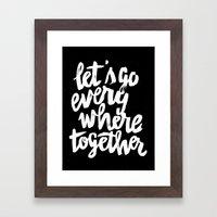 Everywhere Framed Art Print