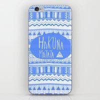 Hakuna Matata electric blue  iPhone & iPod Skin