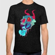 Pink Skull Goop Mens Fitted Tee Tri-Black SMALL