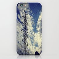 iPhone & iPod Case featuring Heavenly spring sky in an industrial world by Allison corn