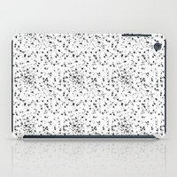 Speckled black and white iPad Case