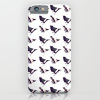iPhone & iPod Case featuring Pink and Purple Birds by Jen Moules