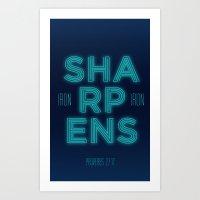 Iron Sharpens Iron Art Print