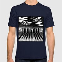 descending of night at the factory Mens Fitted Tee Navy SMALL