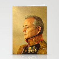 pop art Stationery Cards featuring Bill Murray - replaceface by replaceface
