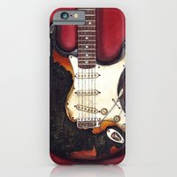 iPhone & iPod Case featuring Burnt guitar by HermesGC
