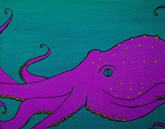Cornelius the Octopus Canvas Print