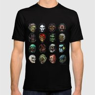 Horror Movie Monster Mas… Mens Fitted Tee Black SMALL