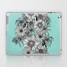 Penguins & Flowers Laptop & iPad Skin