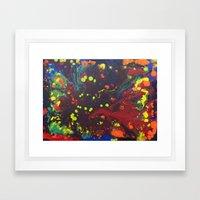Abstract Drops. Framed Art Print