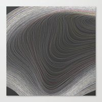 Layers Grey Canvas Print