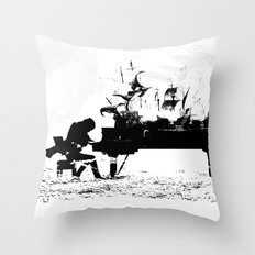 Pianist Passion Throw Pillow