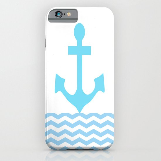 Aqua Anchor iPhone & iPod Case