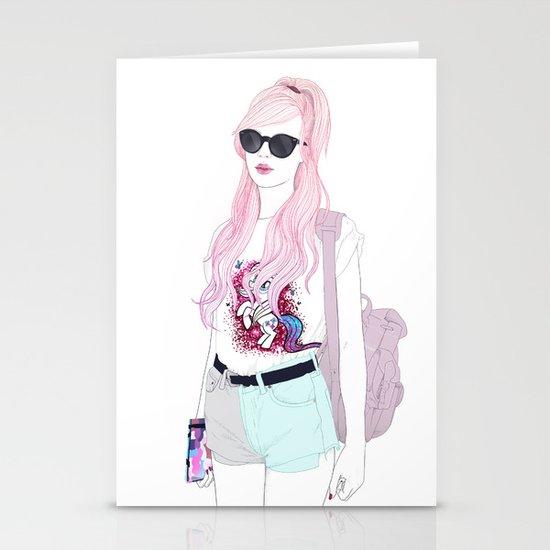 Pastel Fashion Stationery Card