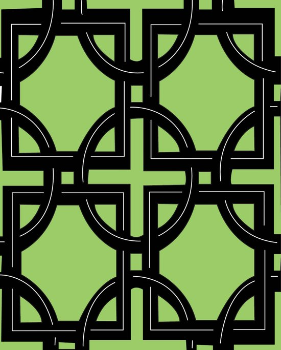 Art Deco Green Art Print