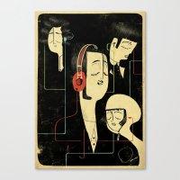 乐 Music Lovers Canvas Print