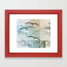 Free like a bird Framed Art Print