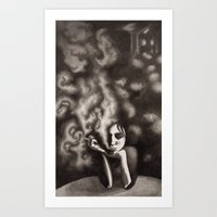 Composition in Black Art Print
