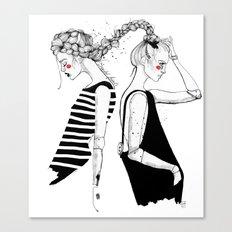 braided friends Canvas Print