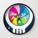 Pinwheel of Death Wall Clock