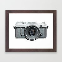 Vintage Camera Phone Framed Art Print