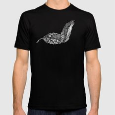 Feather 3 Mens Fitted Tee Black SMALL