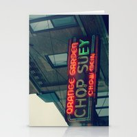 Chop Suey II ~ Chicago vintage neon sign Stationery Cards