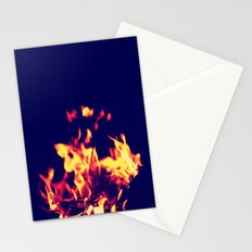 Blue Fire Stationery Cards
