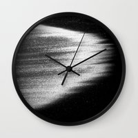 ocean in black and white  Wall Clock