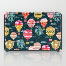 Hot Air Balloons - Retro, Vintage-inspired Print and Pattern by Andrea Lauren iPad Case