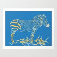 Stripped Zebra Art Print
