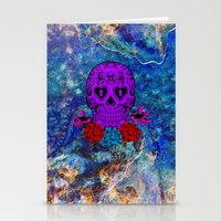 sugar skull Stationery Cards featuring Sugar Skull by haroulita