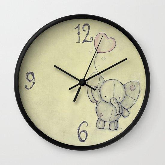 Cute Elephant II Wall Clock