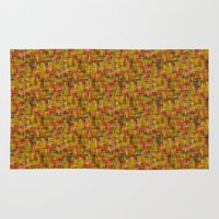 Yellow lines background Rug
