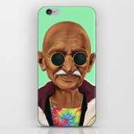 iPhone & iPod Skin featuring Hipstory -  Mahatma Gand… by Amit Shimoni