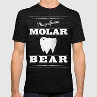 Molar Bear (Gentlemen's … Mens Fitted Tee Tri-Black SMALL