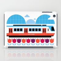 Postcards from Amsterdam / Train and Tulips iPad Case